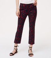 LOFT Scarlet Floral Riviera Pants in Julie Fit