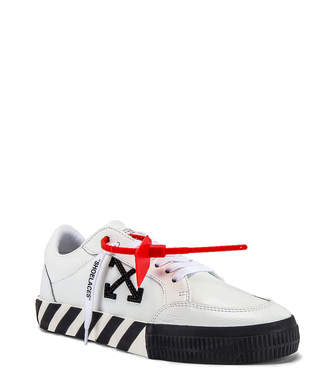 Off-White Off White Low Vulcanized Sneaker in White & Black | FWRD