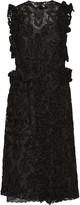 Simone Rocha Chenille-appliquéd tulle dress