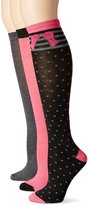 Betsey Johnson Women's Bows and Dots Patterned Fashion Knee High Socks