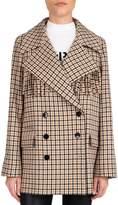 The Kooples Plaid-Print Fringe Cotton Wool-Blend Blazer