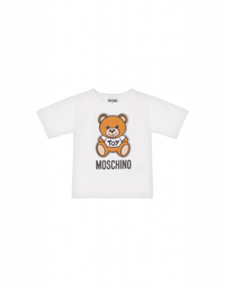 Moschino Teddy Bear Maxi T-shirt Unisex White Size 4a It - (4y Us)
