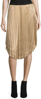 Joie Kambree Pleated Midi Skirt, Gold