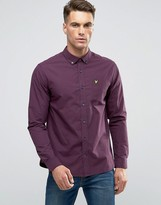 Lyle & Scott Gingham Check Shirt Buttondown In Regular Fit In Navy/Claret
