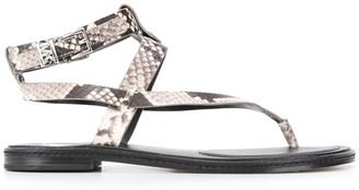 MICHAEL Michael Kors Snakeskin-Effect Sandals