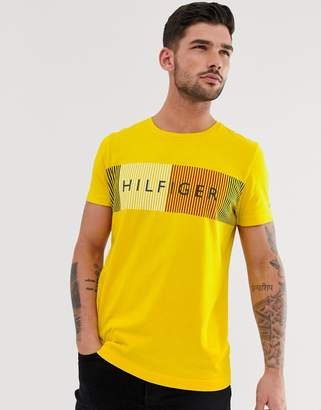 Tommy Hilfiger large flag logo t-shirt in yellow