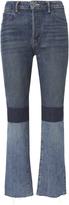 Helmut Lang Patchwork High-Rise Crop Jeans