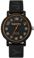 Superdry Campus Silicone Strap Watch, Black