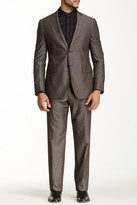 John Varvatos Collection Hampton Brown Two Button Notch Lapel Suit
