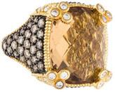Judith Ripka Citrine and Diamond Monaco Ring