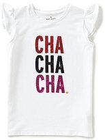 Kate Spade Little Girls 2-6 Cha Cha Cha Ruffle-Sleeve Tee