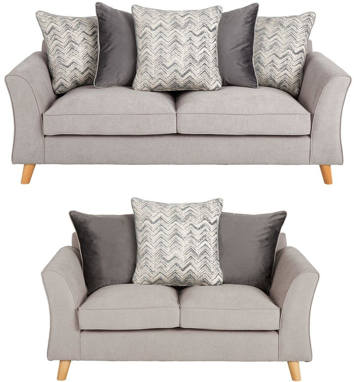 Very Legato Fabric 3 Seater + 2 Seater Scatter Back Sofa Set (Buy And Save!)