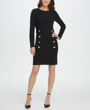 DKNY Double Breasted Skirt Sheath Dress