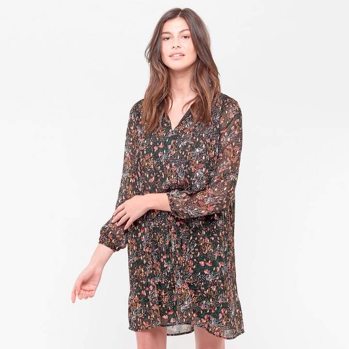 Le Temps Des Cerises Shift Shirt Dress in Floral Print