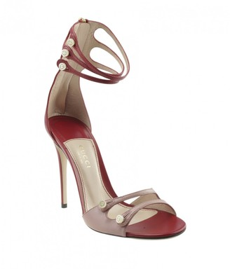 Gucci \N Red Leather Sandals
