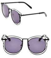 Karen Walker Superstars Simone 54MM Round Wire Sunglasses