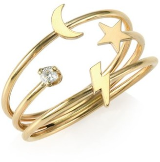 Zoë Chicco 14K Yellow Gold Diamond Symbol Ring