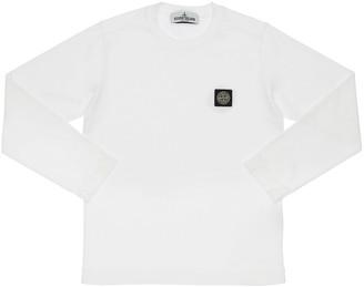 Stone Island Logo Detail Jersey Long Sleeve T-Shirt