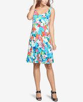 American Living Floral-Print V-Neck Dress