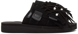 Suicoke Black HOTO Scab Sandals