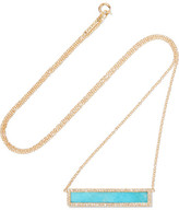 Jennifer Meyer 18-karat Gold, Turquoise And Diamond Necklace - one size