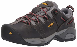 Keen Men's Detroit XT (Steel Toe) Internal Met Guard Work Boot for Construction Industrial Grey/Bossa Nova 10.5 2E US
