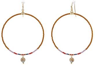 Chan Luu Seed Bead Hoop Earrings (Pumpkin Mix) Earring