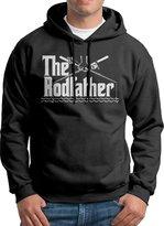 Sarah Men's The Rodfather Fishing Angler Fisherman Hoodie XXL