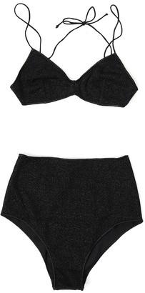 Oseree Lurex High-Rise Bikini