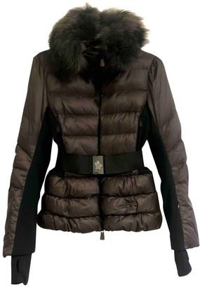 Moncler Grenoble Brown Fur Coat for Women Vintage