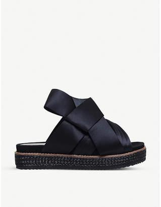 Kurt Geiger London Bloom satin bow sandals