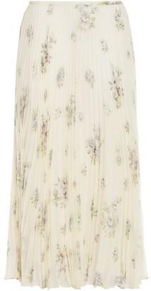 Joseph Abbot Vita Pleated Floral-print Silk-chiffon Midi Skirt