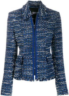 Karl Lagerfeld Paris Tweed Boucle Jacket