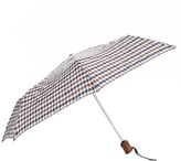 Aquascutum London Club Check Umbrella Brown