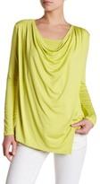 Karen Kane Asymmetrical Drape Blouse