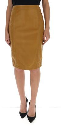 Saint Laurent Leather Pencil Skirt