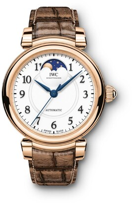 IWC SCHAFFHAUSEN Red Gold Da Vinci Automatic Moon Phase Watch 36mm