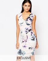 Lipsy Floral Bodycon Pencil Dress