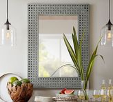Pottery Barn Checkered Galvanized Mirror