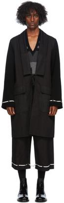 Undercover Black Canvas Robe Coat