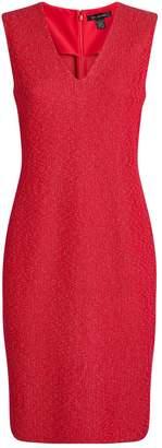 St. John V-Neck Textured Knit Dress
