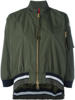 Moncler cropped striped trim jacket