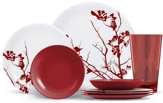 Thermoserv 16-Piece Melamine Dinnerware Set, Dogwood Floral