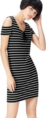 Find. Women's Cold Shoulder Striped Dress