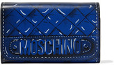 Moschino Printed Texture-Leather Wallet
