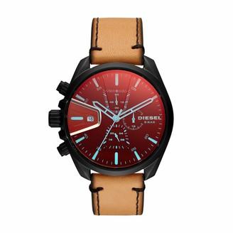 Diesel Men's Chronograph Quartz Watch with Leather Strap DZ4471