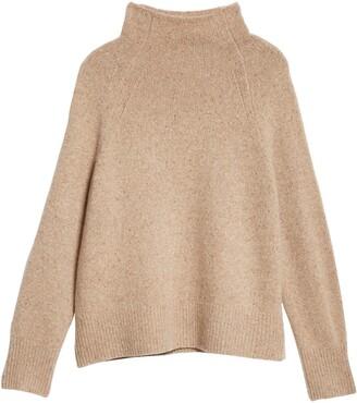 Vince Rib Trim Raglan Turtleneck Sweater