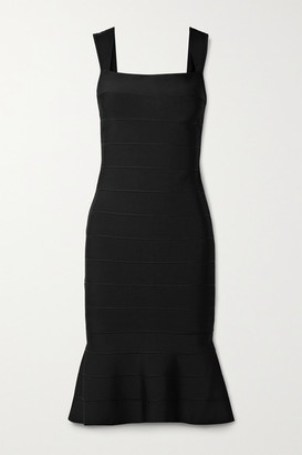 Herve Leger Icon Fluted Bandage Dress - Black