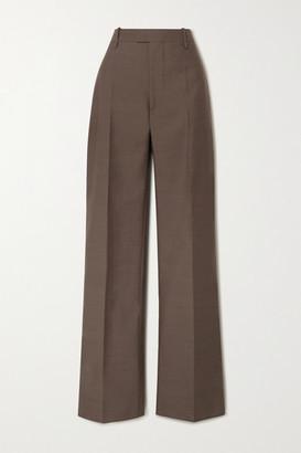 Bottega Veneta Wool Wide-leg Pants - Brown