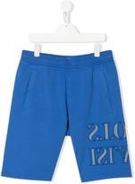 Stone Island Junior TEEN logo embroidered shorts